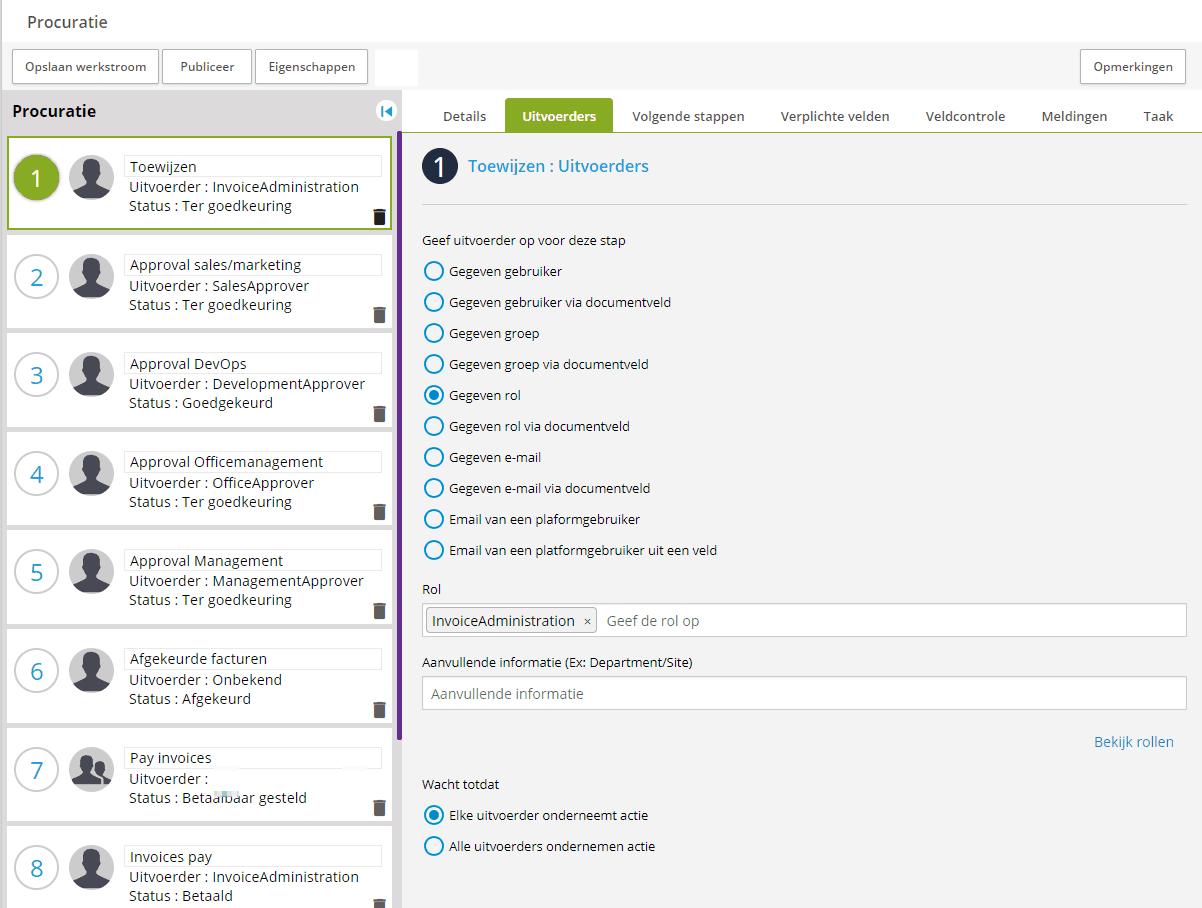 Workflow van eVerbinding - Inrichting van factuurstroom
