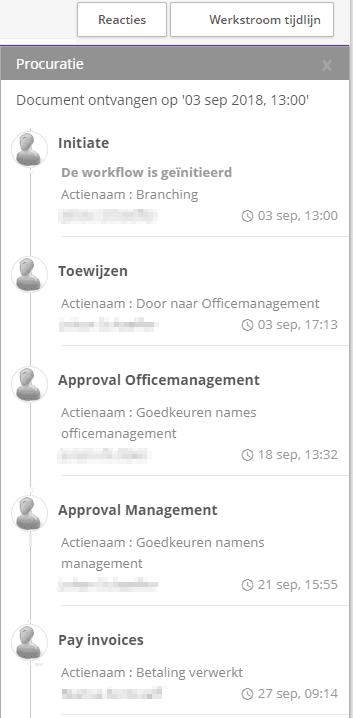 Screenshot Workflow van eVerbinding